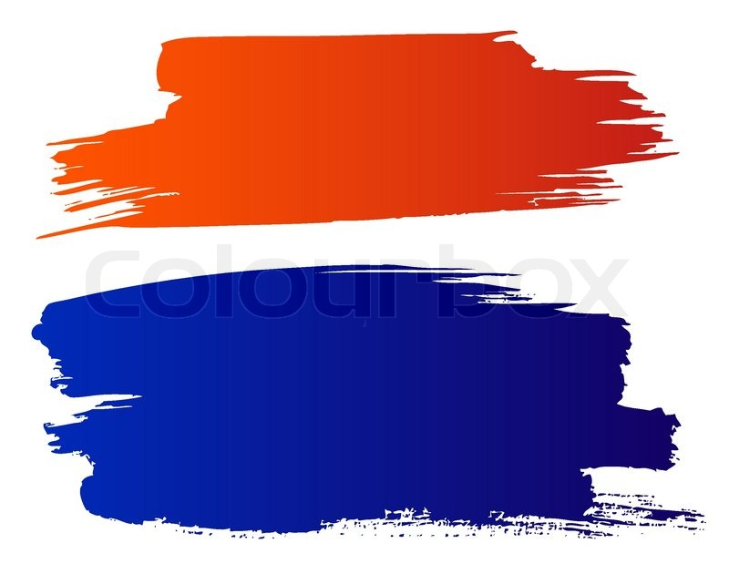vector red and blue grunge brushes stock vector colourbox rh colourbox com brush vector free bush vector