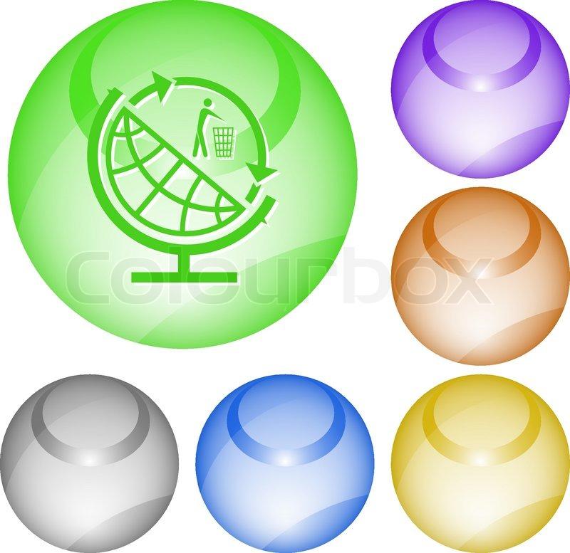Recycle Symbol Circle Globe And Recycling Symbol