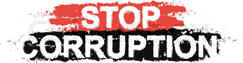 Stop Corruption Paint Grunge Protest Graffiti Sign
