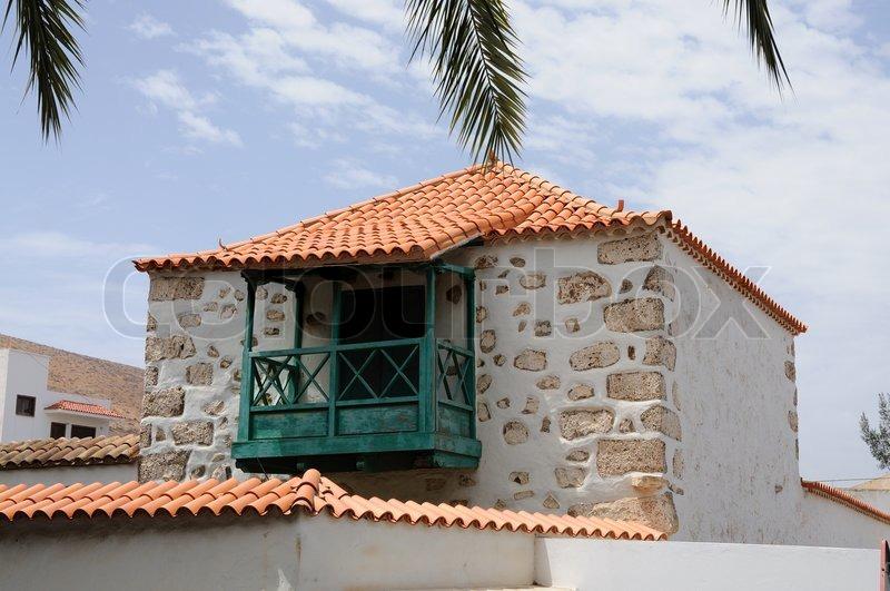 Traditional Architecture In Pajara Canary Island Fuerteventura Spain