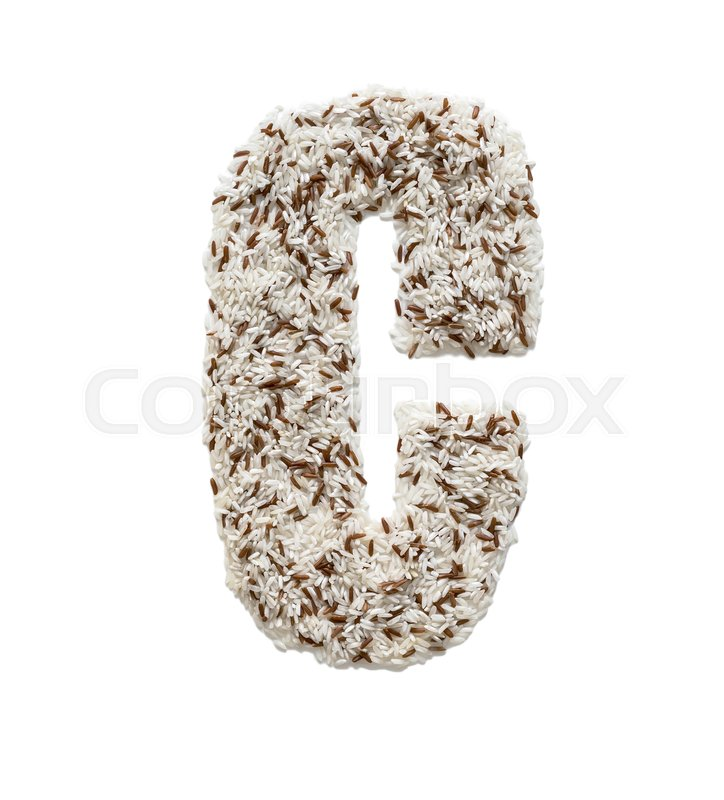 different kinds of rice grain lying and creating an alphabet letter c different colors stock photo colourbox