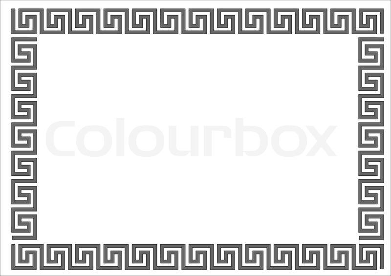 griechische rahmen auf wei em backgroundgreek rahmen auf wei em hintergrund vektorgrafik. Black Bedroom Furniture Sets. Home Design Ideas