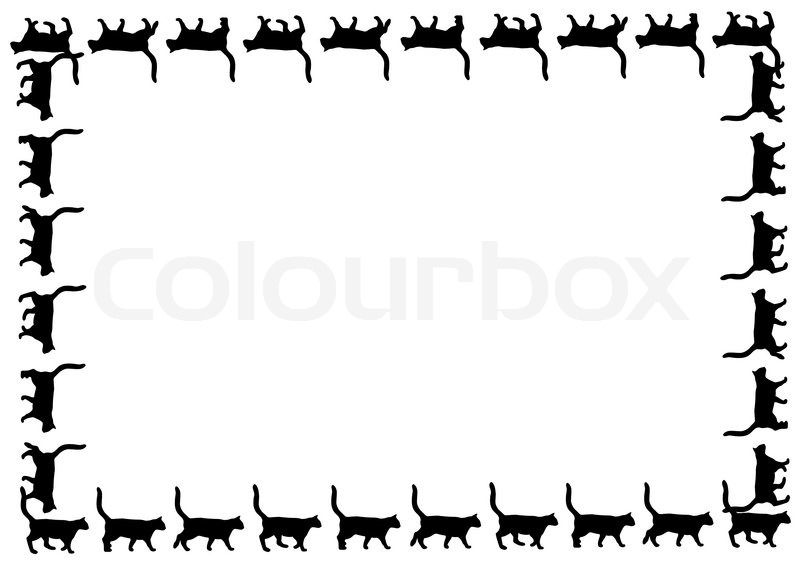 cat frame stock ilration i1289412 at featurepics