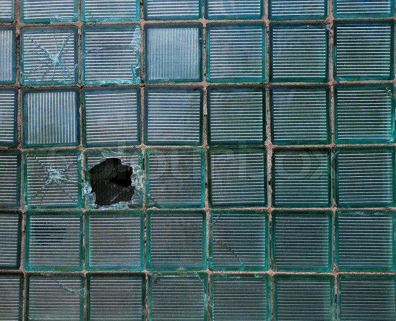 Eine wand aus glasbausteinen stockfoto colourbox - Wand aus glasbausteinen ...