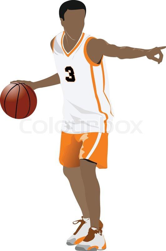 basketball player stock vector colourbox rh colourbox com basketball player victory from tacoma academy baseball player vector
