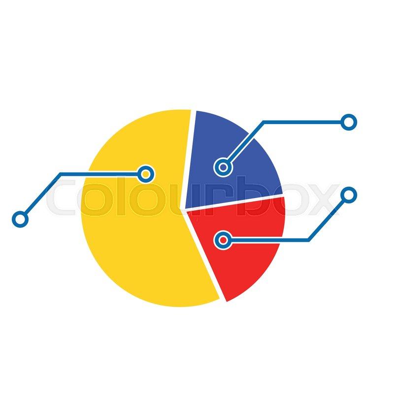Pie Chart Template  Economic     | Stock vector | Colourbox