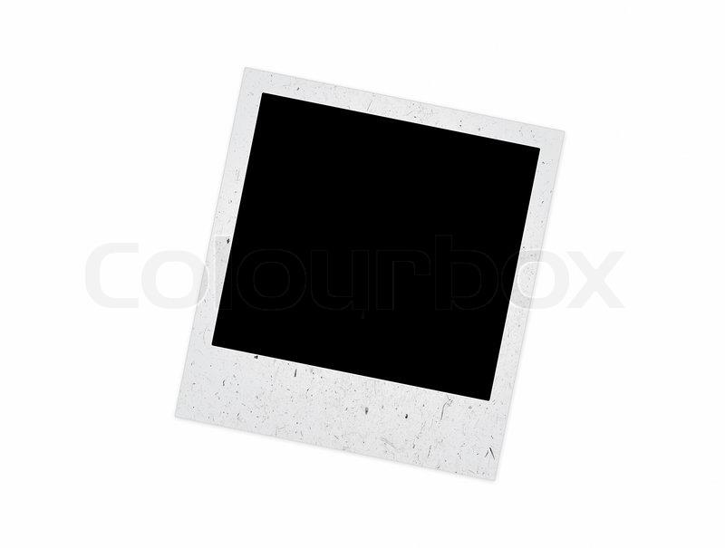 Old Polaroid Frame On A White Background Stock Photo