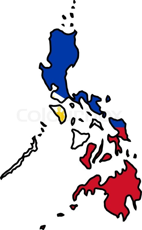Map in colors of Philippines  Stock Vector  Colourbox