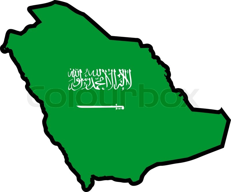 Map In Colors Of Saudi Arabia Stock Vector Colourbox