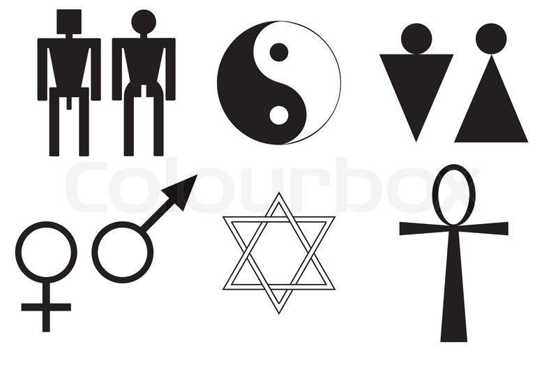 Male And Female Symbols  Stock Vector  Colourbox-7525