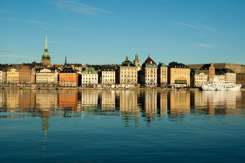 Old Town Stockholm Popular Touristic Attraction Stock Photo ...
