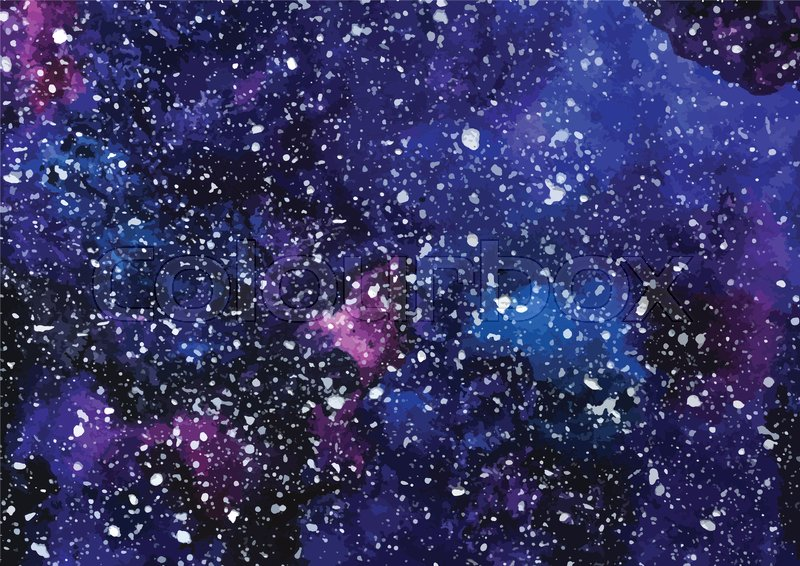 hand painted watercolor cosmic texture with stars space starry