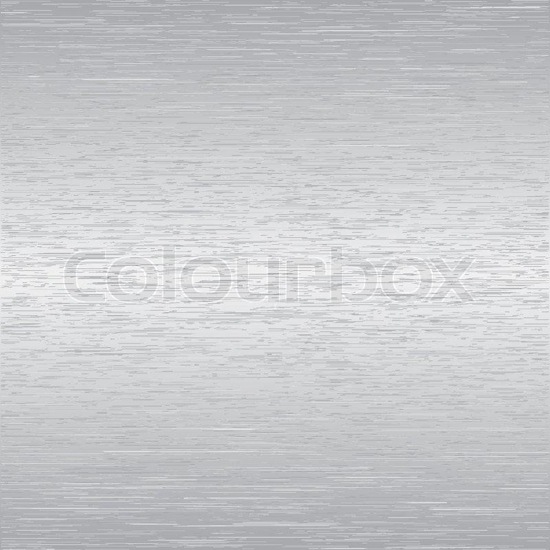 StockVektor von Gebürstetem Aluminium oder Edelstahl Hintergrund