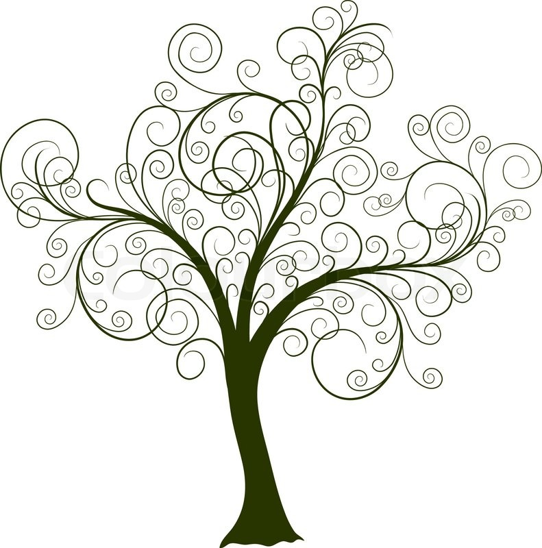decorative tree  vector illustration