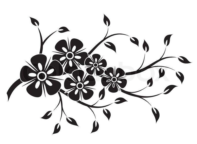 decorative floral element for design vector illustration stock