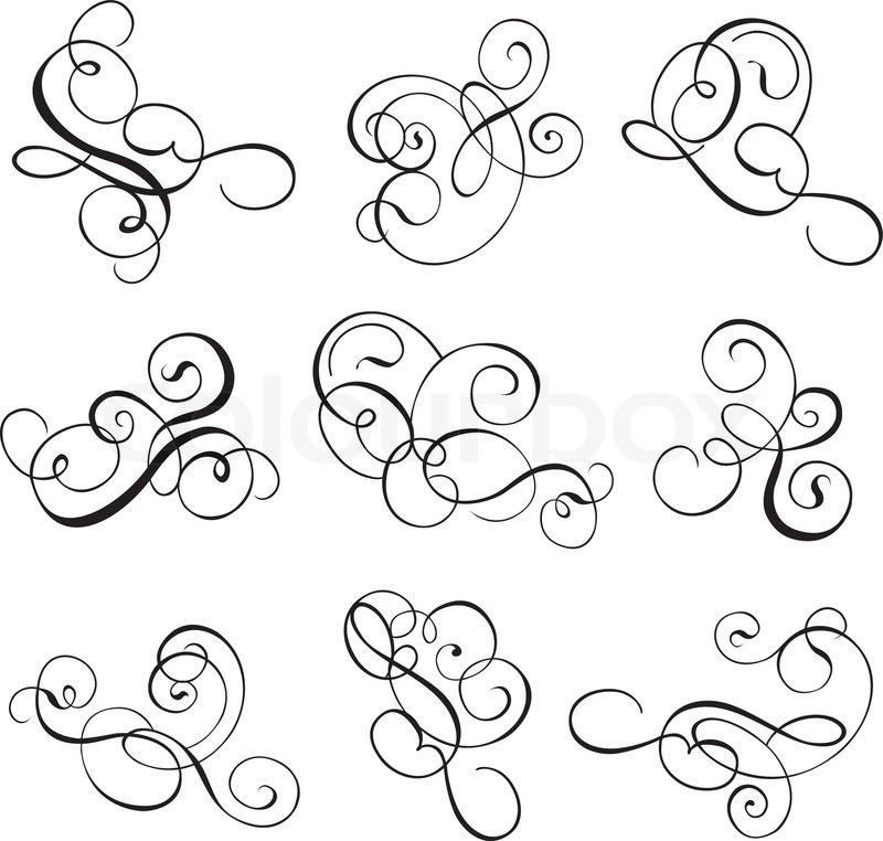 Scroll, cartouche, decor, vector illustration | Stock Vector | Colourbox