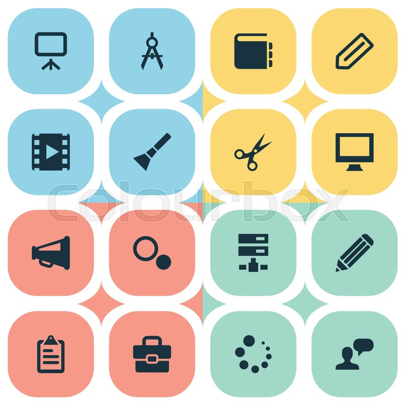 Vector Il Ration Set Of Simple Design Icons Elements Settings Essment Briefcase And Other Synonyms Choice Schedule And Trim