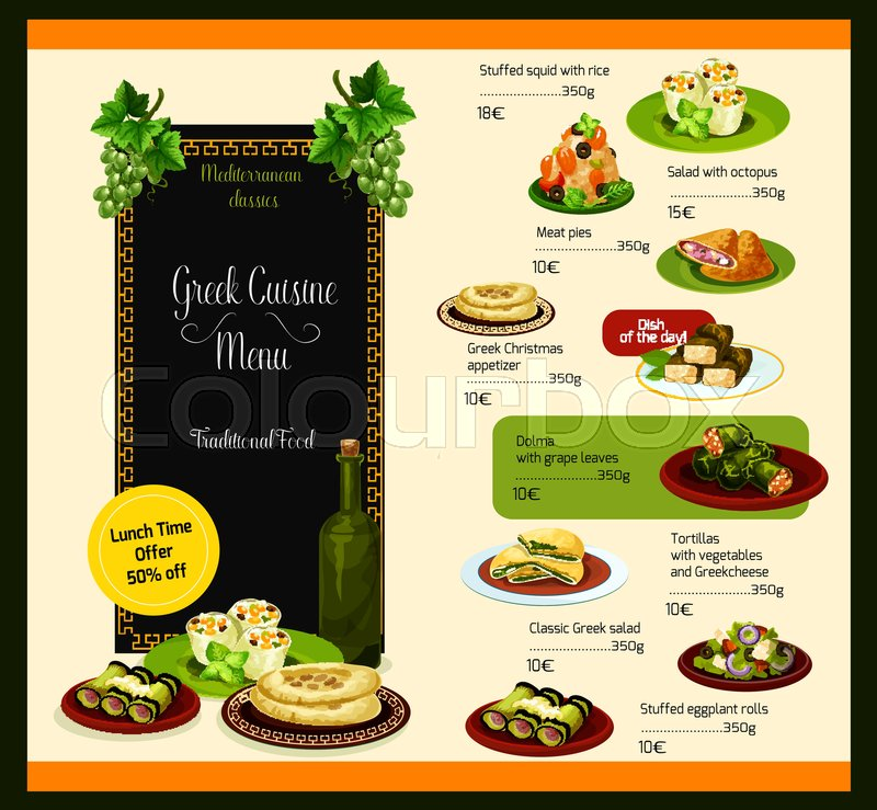 Traditional Turkish Food Menu