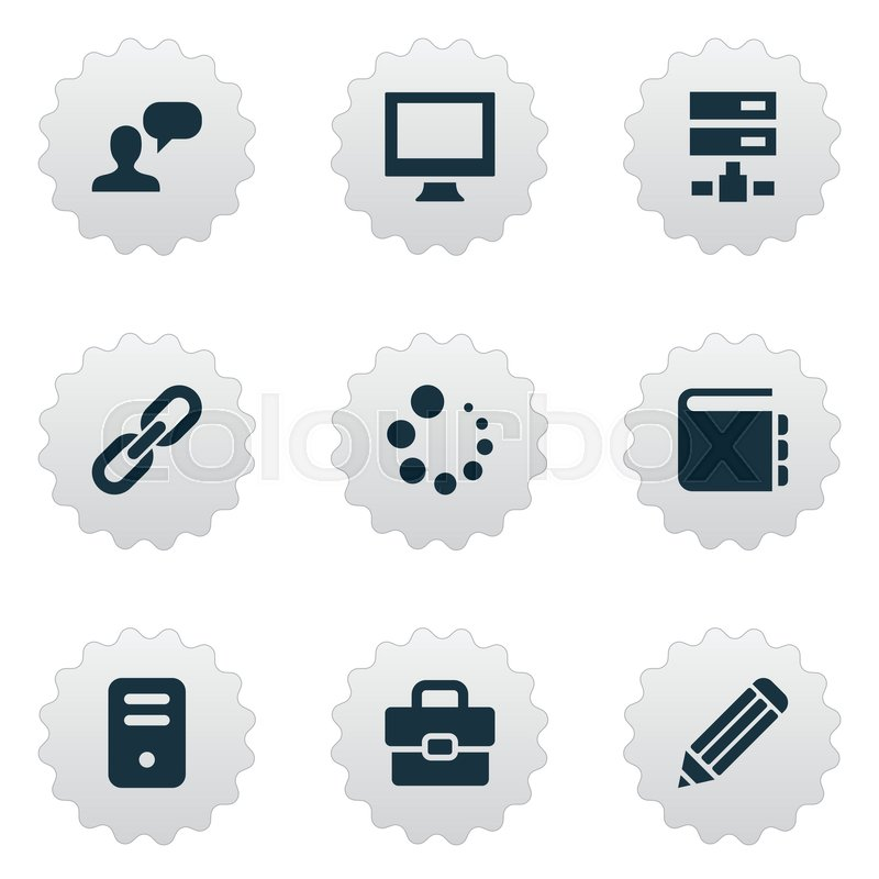 Vector illustration set of simple design icons elements system unit stock vector of vector illustration set of simple design icons elements system unit malvernweather Gallery