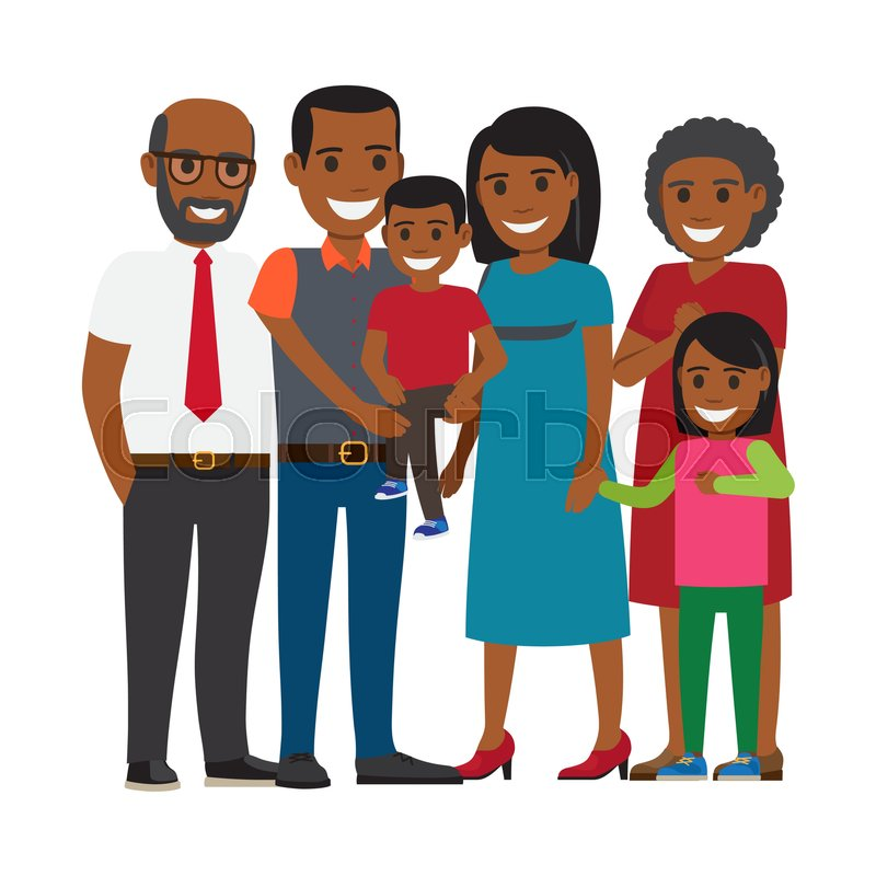 Tree Generations Of Family Together African American Boy -3192