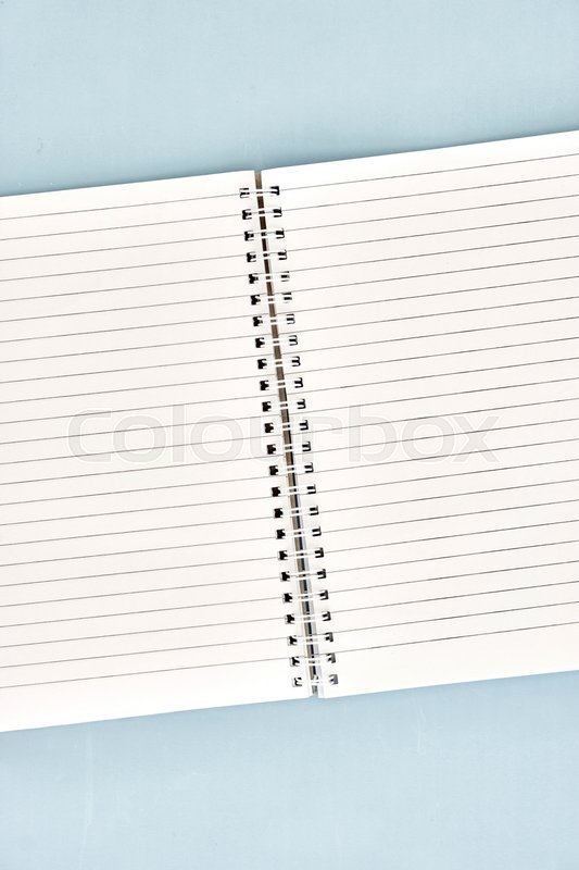 A close up shot of a notebook writing pad, stock photo