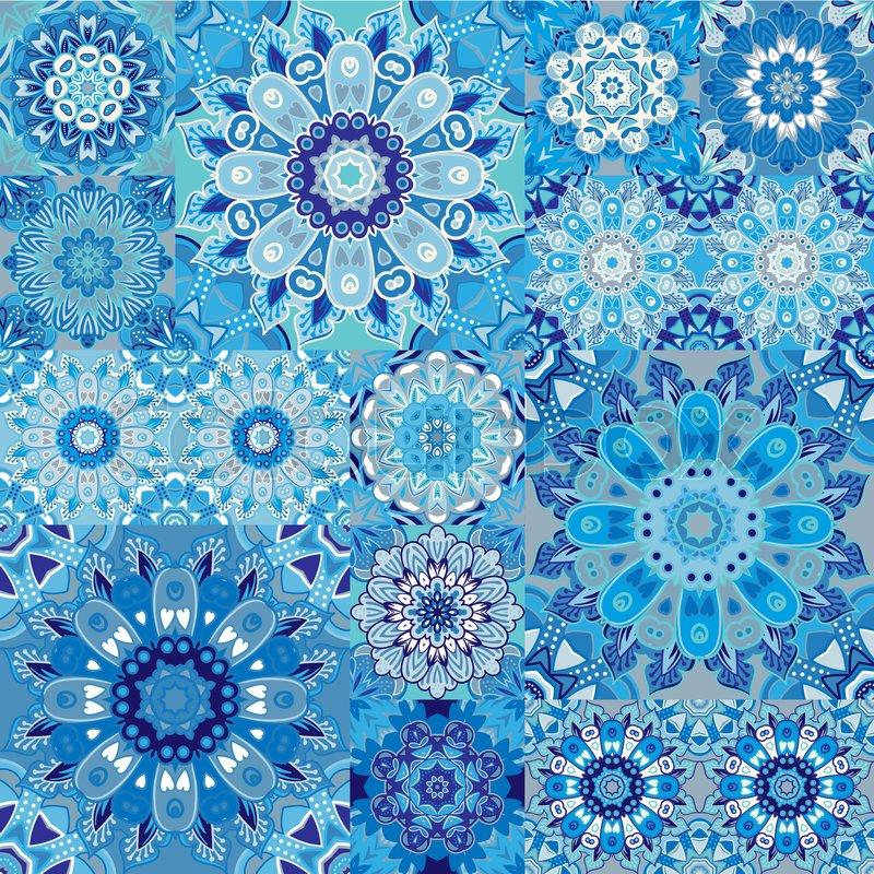 Seamless Tile Pattern Colorful Lisbon Mediterranean