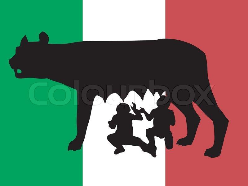 Silhouette Of Symbol Of Rome Stock Vector Colourbox