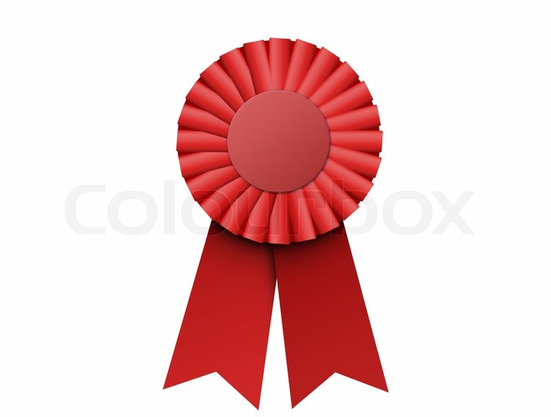 Red Ribbon First Place First Place Ribbon Red