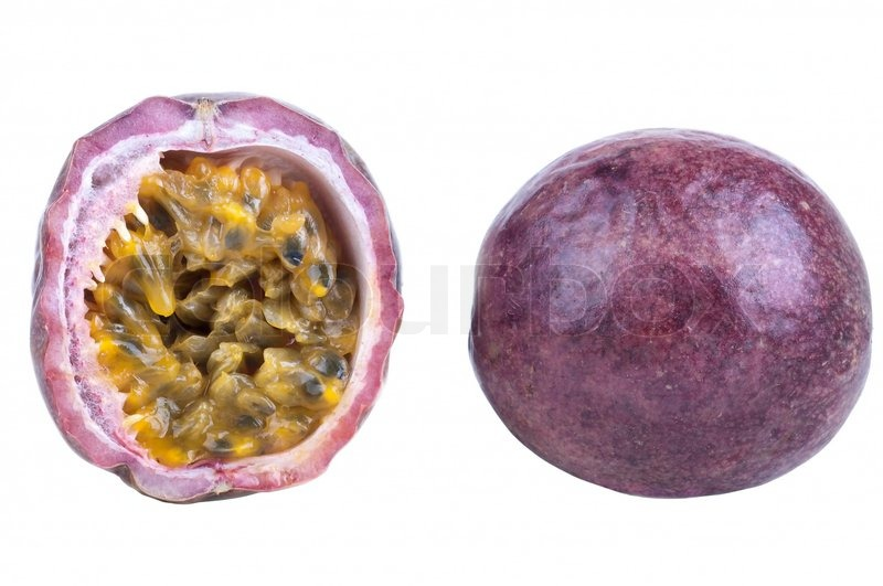 how to cut open passion fruit