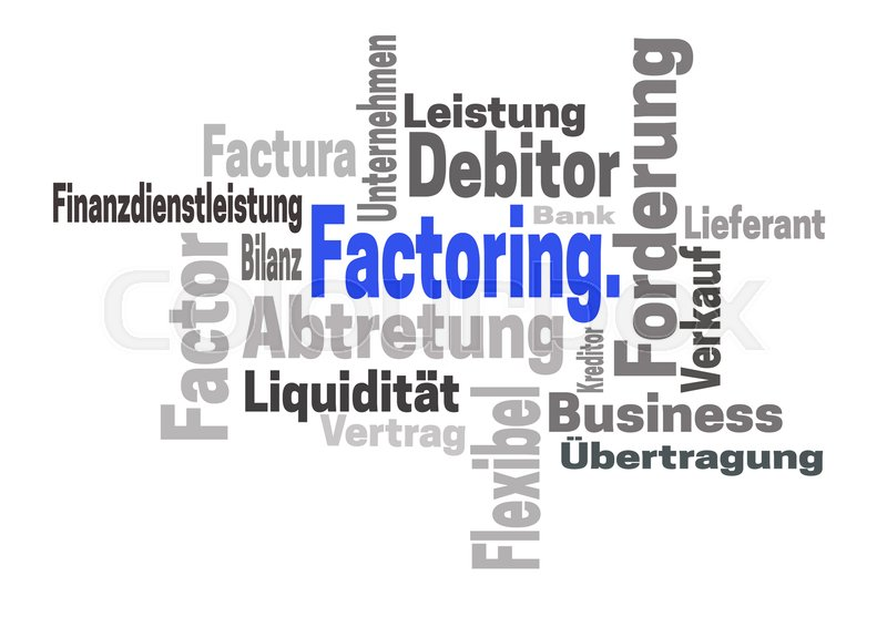 Factoring Abtretung Stock Image Colourbox