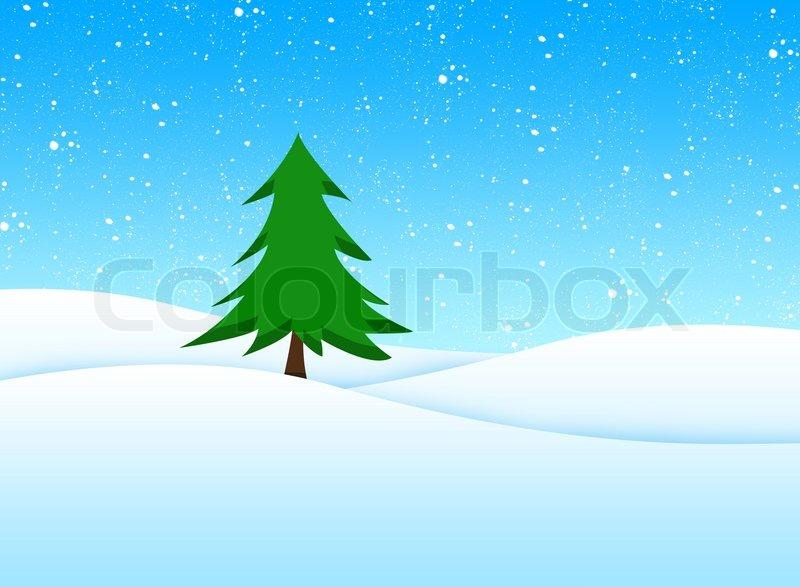 Illustration Of A Beautiful Christmas Scenery Stock Photo Colourbox