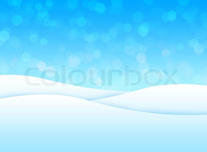 Snowy Landscape Illustration Stock Photo Colourbox