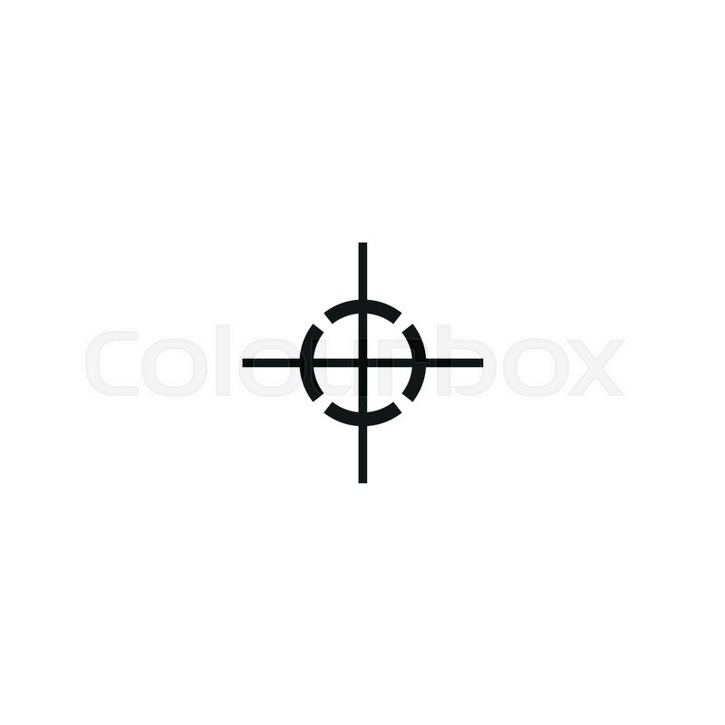 Center Of Gravity Symbol Isolated On White Background Vector