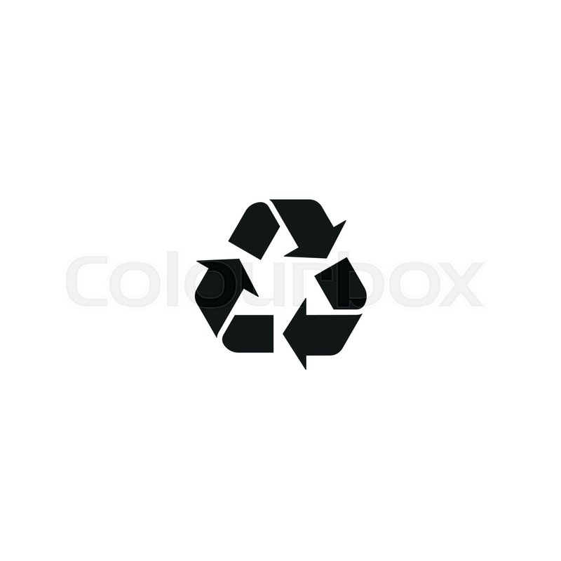 Recycling Symbol Isolated On White Background Vector Illustration