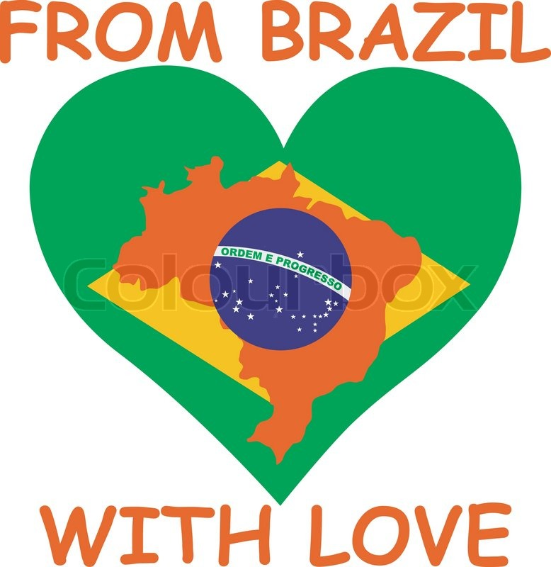 from brazil with love stock vector colourbox