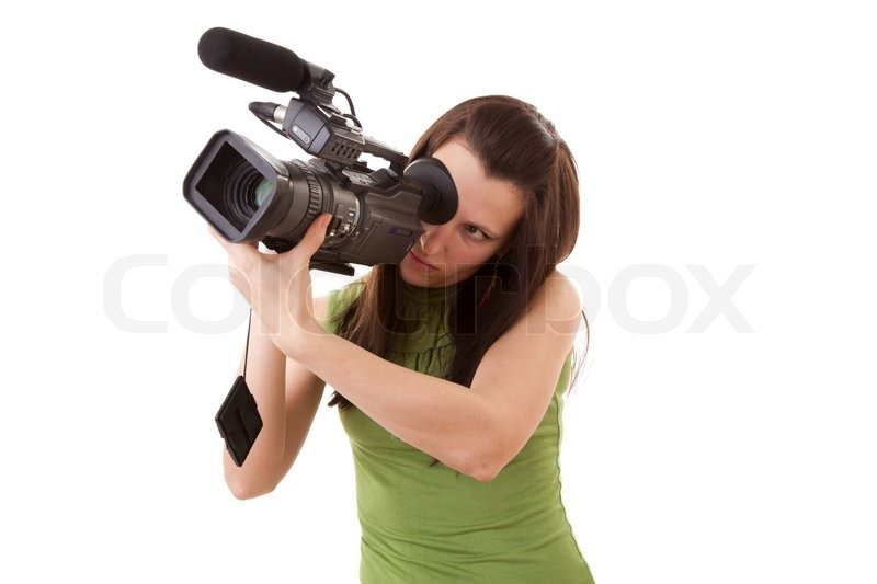 Girl with video camera