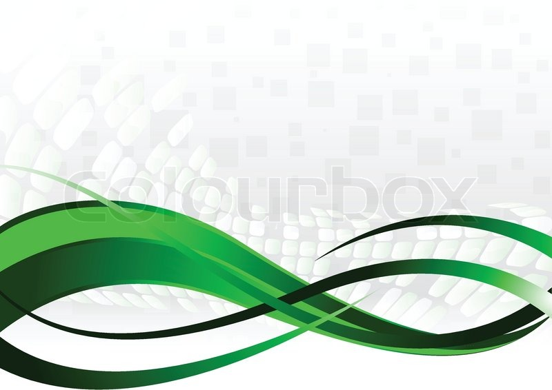 Colour Line Art Design : Vector abstract background in green color stock colourbox