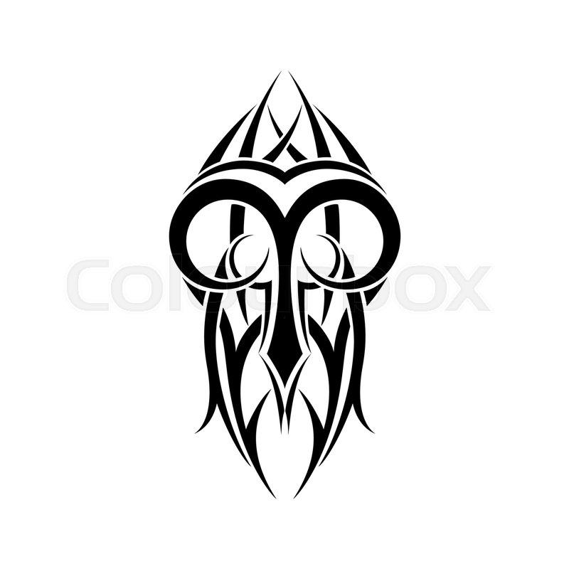 Aries Zodiac Abstract Tribal Tattoo Design Vector Illustration