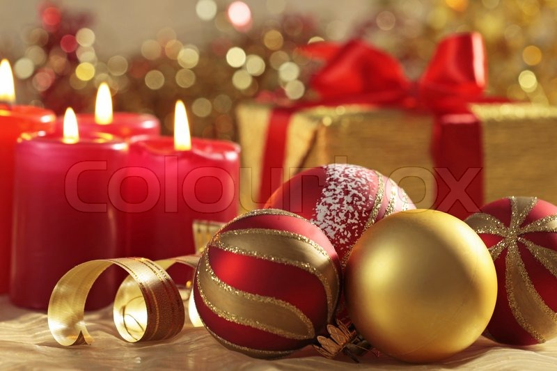 Stock image of 'Christmas decorations'