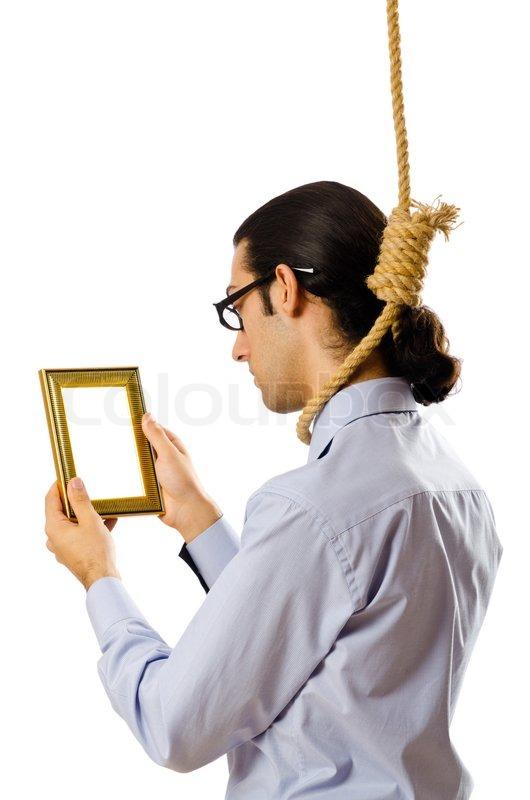 Man With Noose Around His Neck Stock Photo Colourbox
