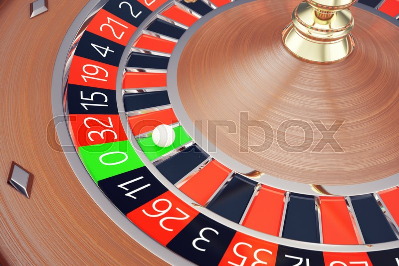 Stock image of 'Casino Roulette Las Vegas Gambling Concept. Playing in a Casino Conceptual 3d rendering'