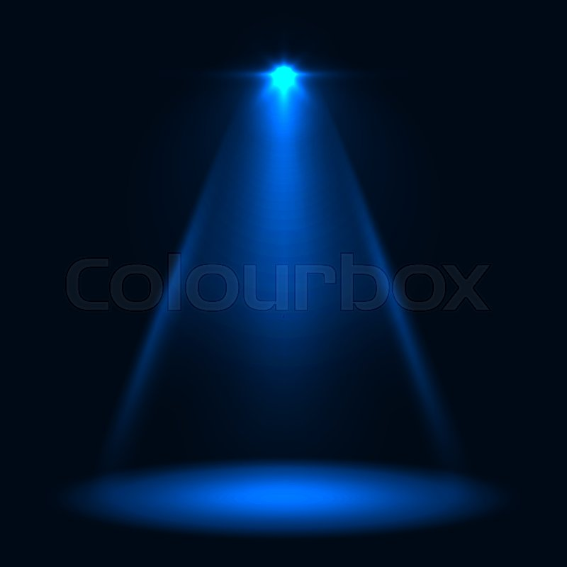abstract blue stage spotlight vector background layered eps10 file