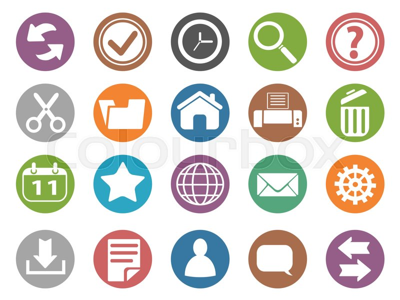 Isolated Interface And Toolbar Buttons Icon Set From White