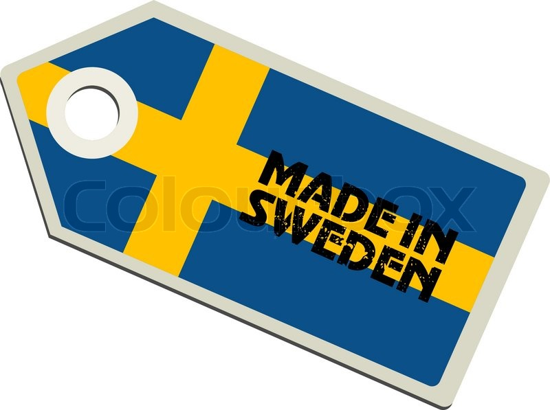 Stock vector of 'vector label Made in Sweden'