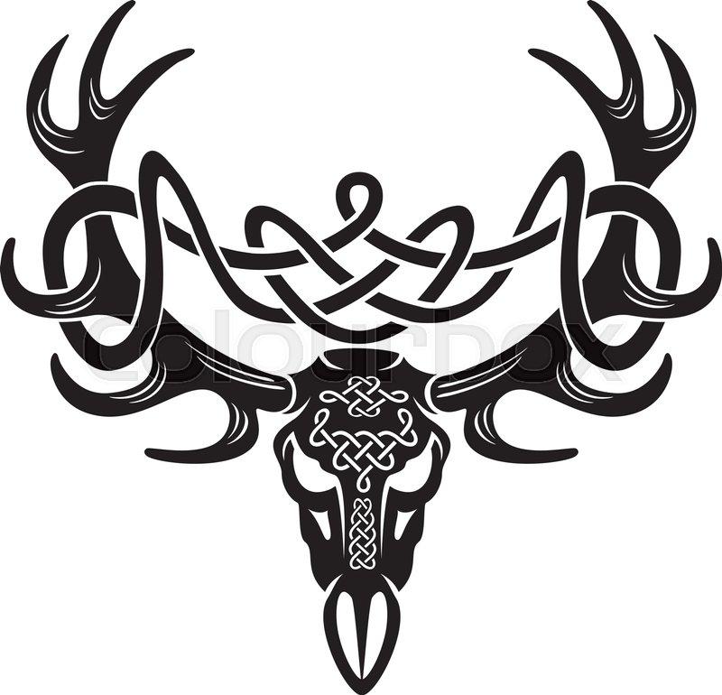 celtic deer skull stock vector colourbox rh colourbox com  deer skull vector art