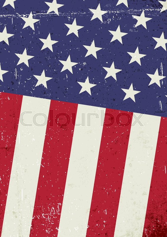Grunge United States Of America Flag Stock Vector Colourbox