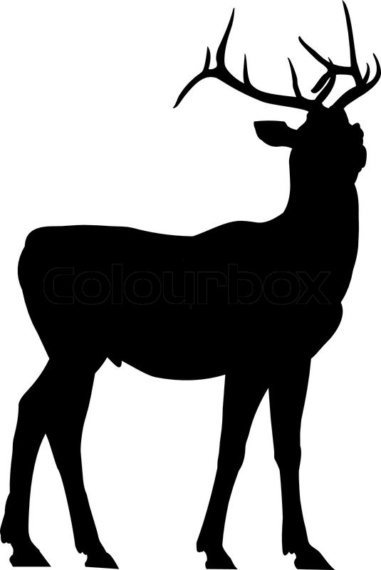 vector outlines of the deer silhouette stock vector colourbox rh colourbox com deer head silhouette vector art deer silhouette vector free download