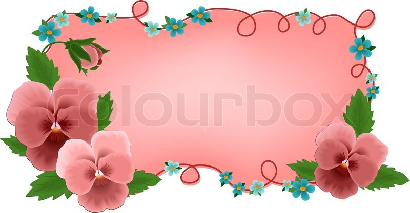 Banner or greetings card with pansy flowers eps10 stock vector banner or greetings card with pansy flowers eps10 vector m4hsunfo