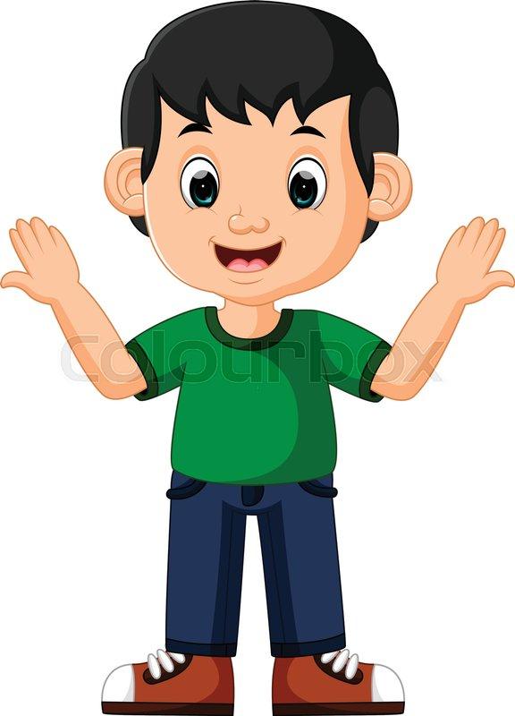 Illustration Of Cute Boy Cartoon Good Stock Vector Colourbox