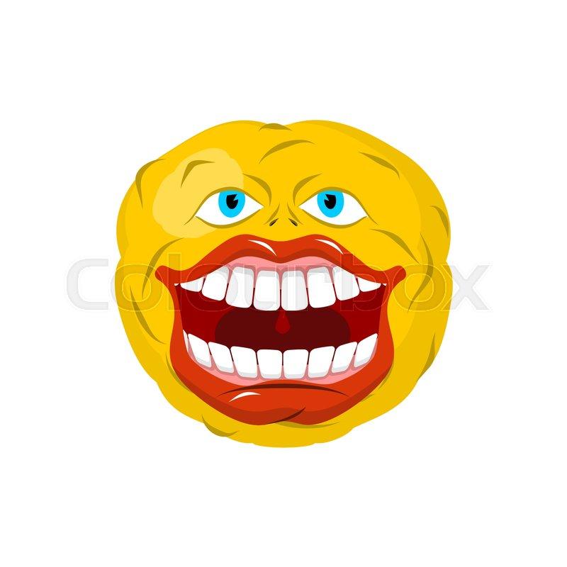 Crazy emoji face